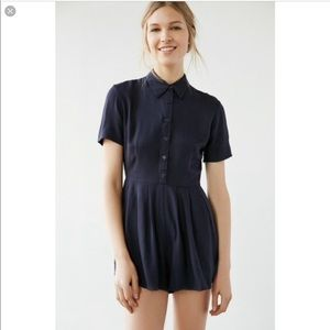 Urban Outfitters | Navy Collar Romper